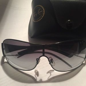 authentic RAY BAN wrap SHIELD sunglasses $575 MSRP